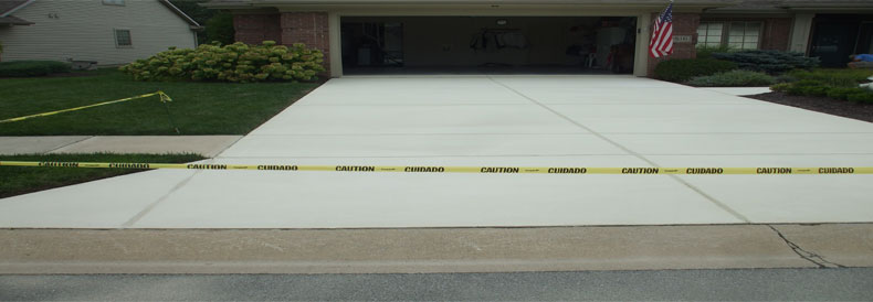 Newly Resurfaced Concrete